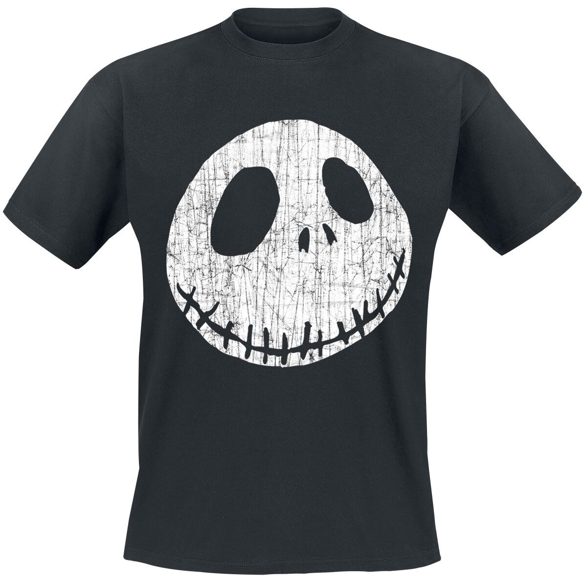 Image of   The Nightmare Before Christmas Jack - Cracked Face T-Shirt sort