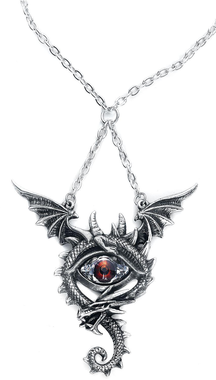 Image of   Alchemy Gothic Eye of the Dragon Halskæde sølvfarvet
