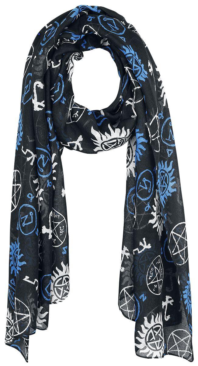 Image of   Supernatural Symbols Halstørklæde multifarvet