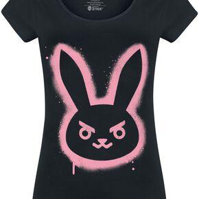 Overwatch D.VA - Bunny - Spray T-shirt Femme noir