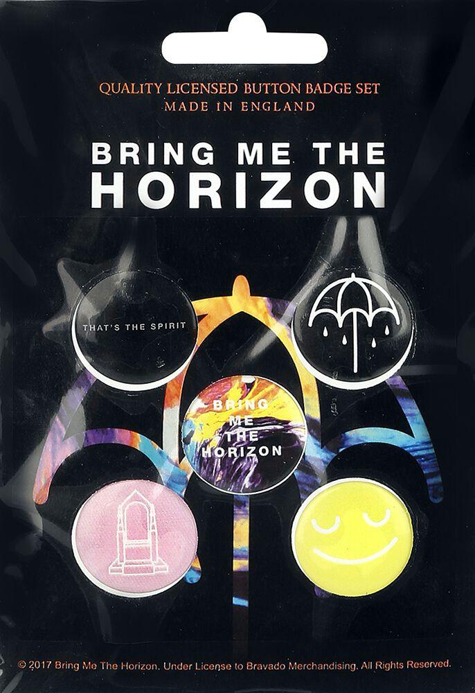 Image of   Bring Me The Horizon Mix Badgepakke multifarvet