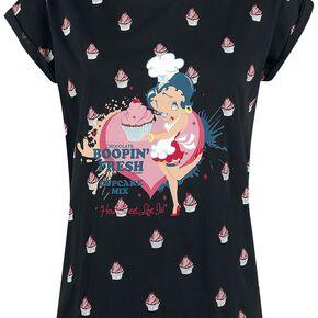 Betty Boop Cupcake T-shirt Femme noir