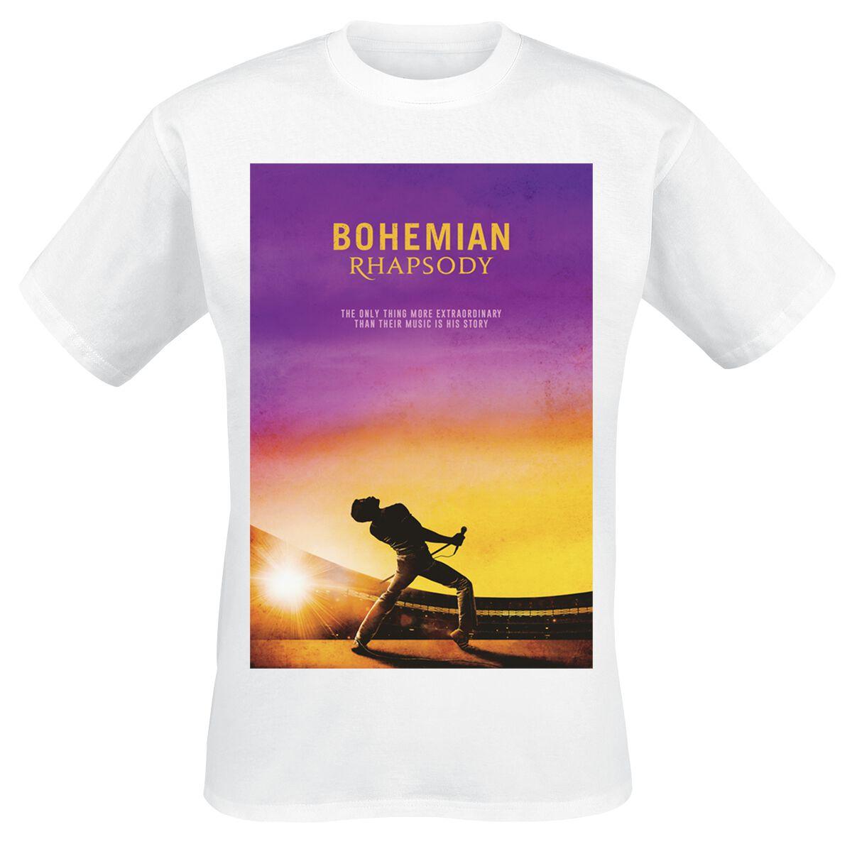 Image of   Queen Bohemian Rhapsody T-Shirt hvid