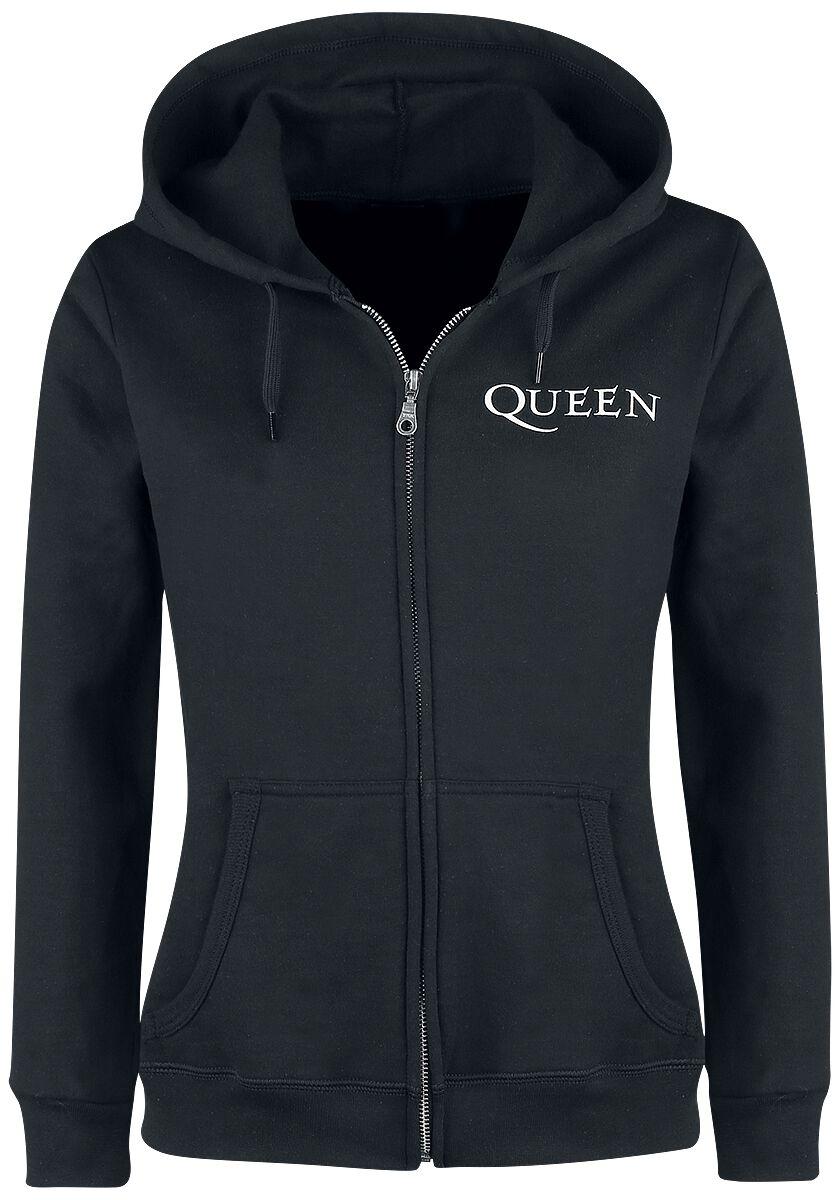 Image of   Queen Crest Vintage Girlie hættejakke sort