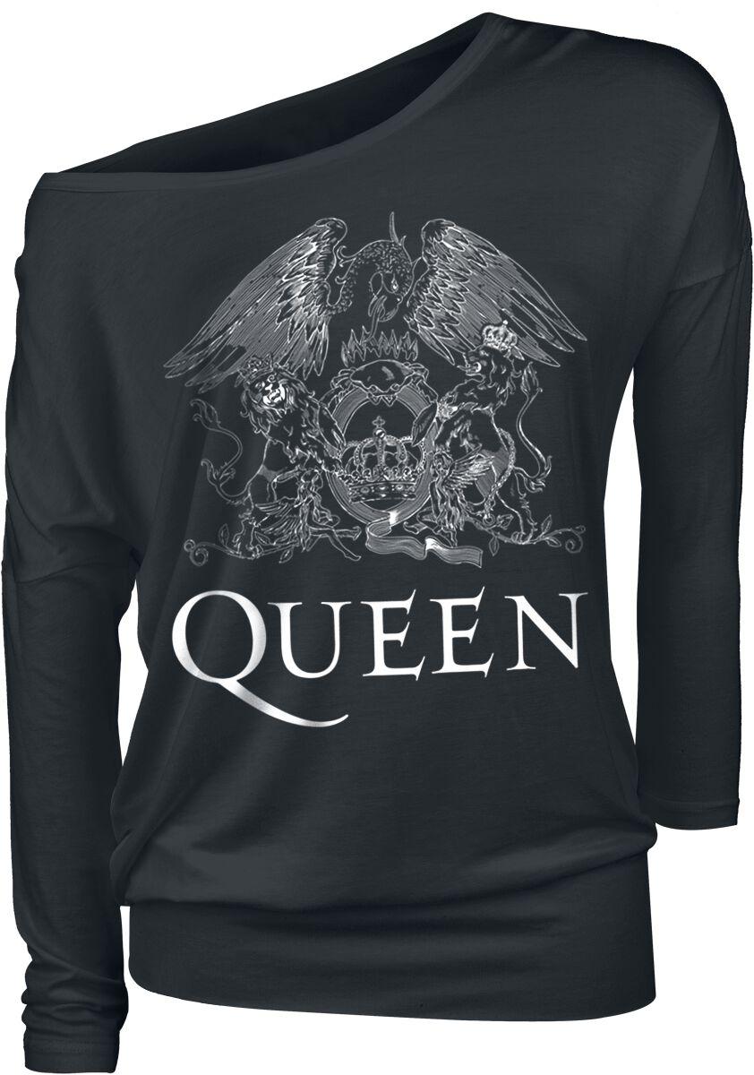 Image of   Queen Crest Vintage Girlie langærmet sort