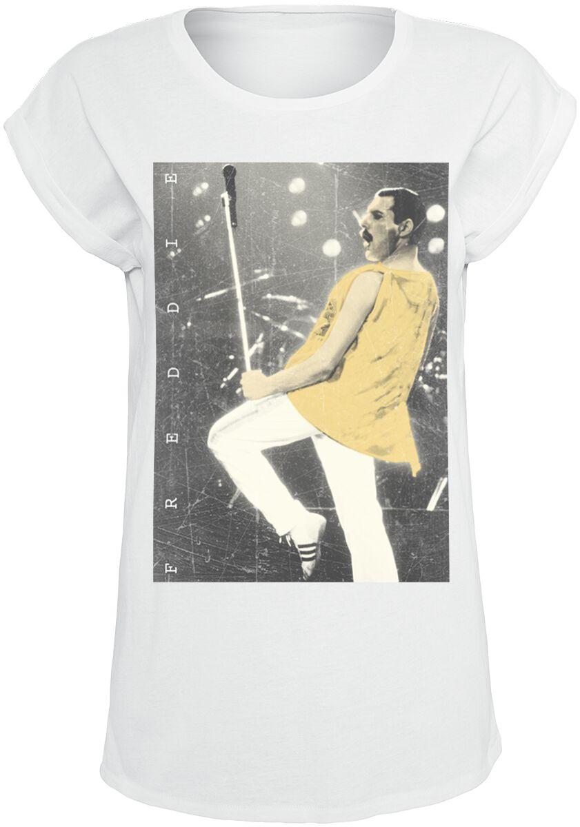 Image of   Queen Freddie - Stage Photo II Girlie trøje hvid