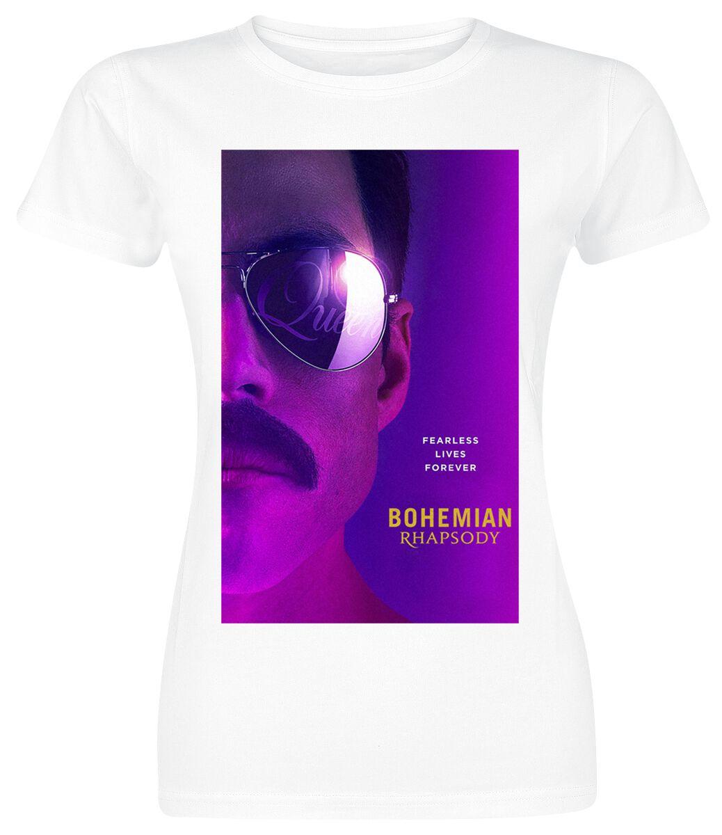 Image of   Queen Bohemian Rhapsody - Fearless Girlie trøje hvid