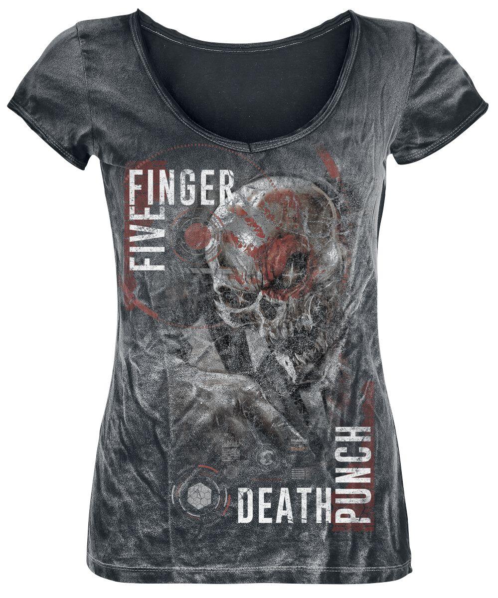 Image of   Five Finger Death Punch And Justice For None Girlie trøje sort-brugt look
