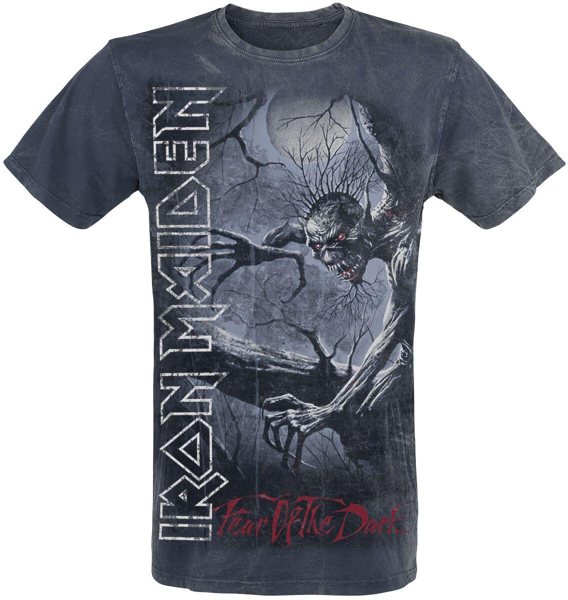 Image of   Iron Maiden Fear Of The Dark Vintage T-Shirt marine