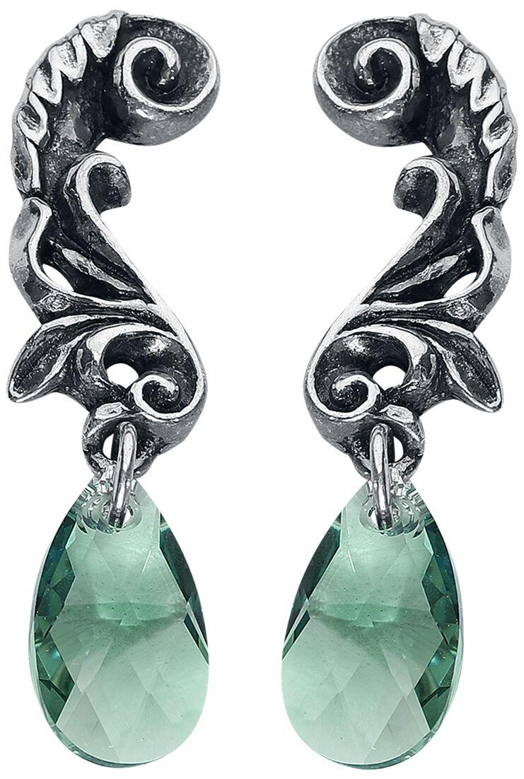 Image of   Alchemy Gothic Night Queen Ørestik sæt sølvfarvet