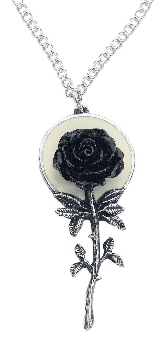 Image of   Alchemy Gothic Luna Rose Halskæde sølvfarvet