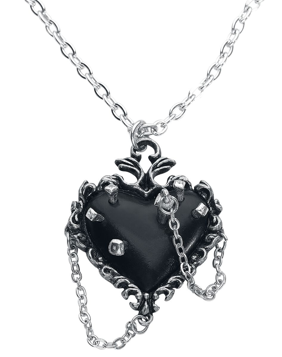 Image of   Alchemy Gothic Witches Heart Halskæde sølvfarvet