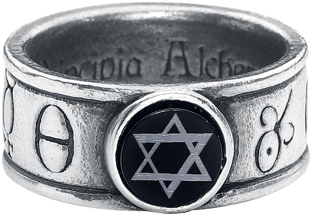 Image of   Alchemy Gothic Principia Alchemystica Ring sølvfarvet