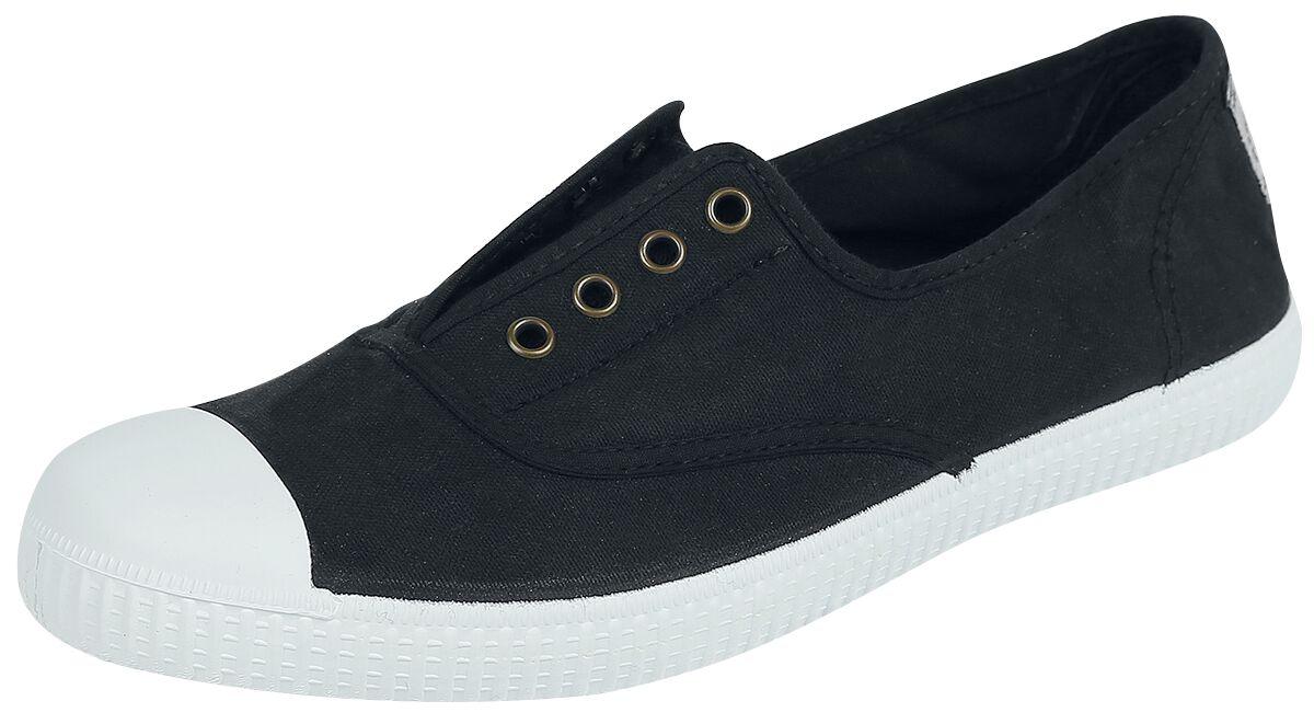 Sneakers für Frauen - Victoria Inglesa Elastico Tintada Sneaker schwarz  - Onlineshop EMP