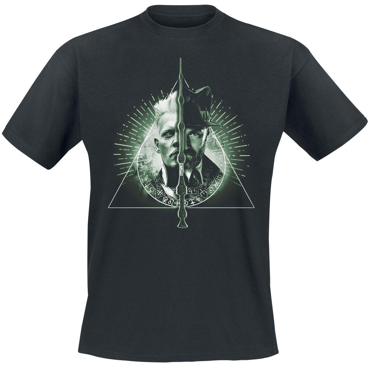 Image of   Fantastic Beasts Grindelwalds Verbrechen - Heiligtümer des Todes T-Shirt sort