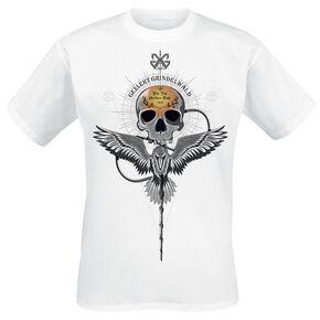 Les Animaux Fantastiques Grindelwalds Verbrechen - Gellert Skull T-shirt blanc