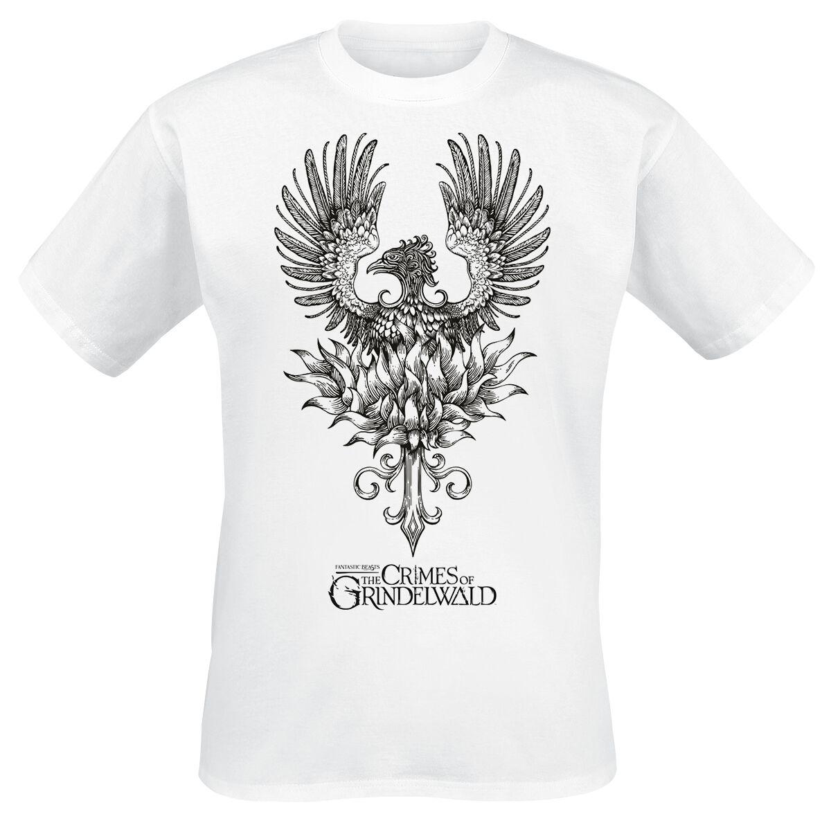 Image of   Fantastic Beasts Grindelwalds Verbrechen - Phoenix T-Shirt hvid