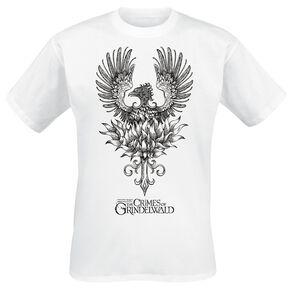 Les Animaux Fantastiques Grindelwalds Verbrechen - Phoenix T-shirt blanc