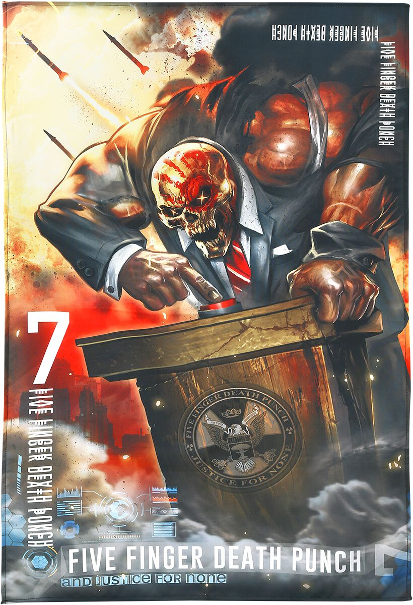 Image of   Five Finger Death Punch And Justice For None Stofplakat multifarvet
