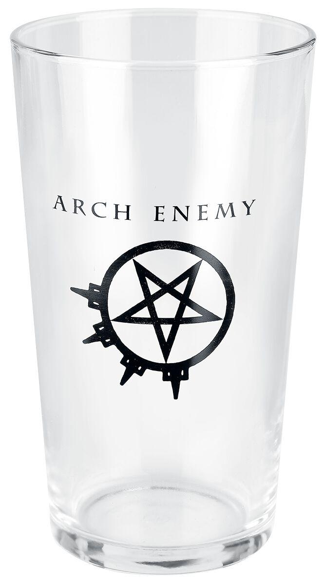 Image of   Arch Enemy Logo Ølglas gennemsigtig