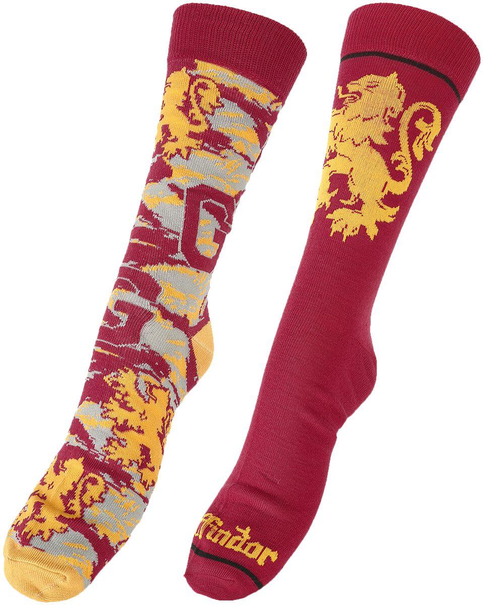 Socken für Frauen - Harry Potter Gryffindor Socken Mehrfarbig  - Onlineshop EMP