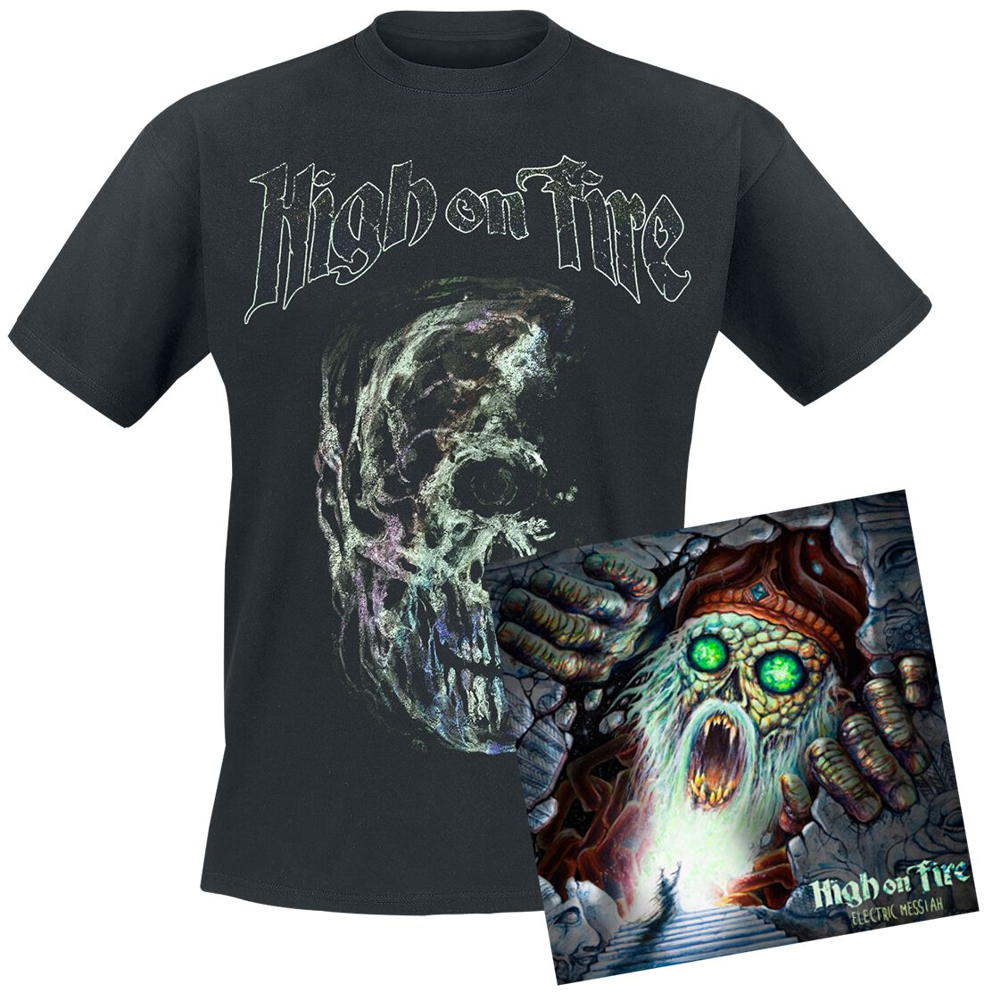 Image of   High On Fire Electric messiah 2-LP & T-Shirt Standard