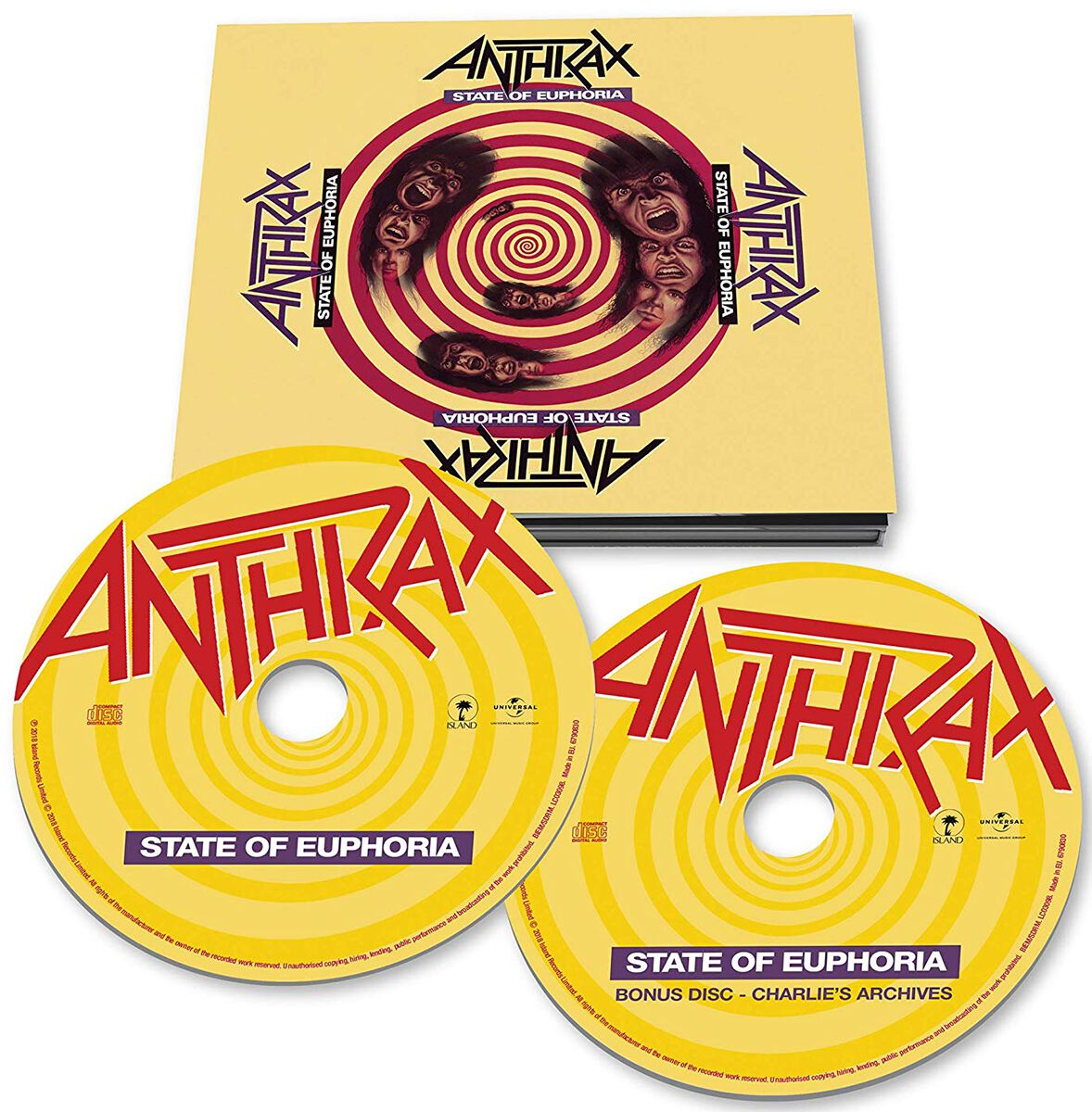 Anthrax State of Euphoria 2-CD Standard