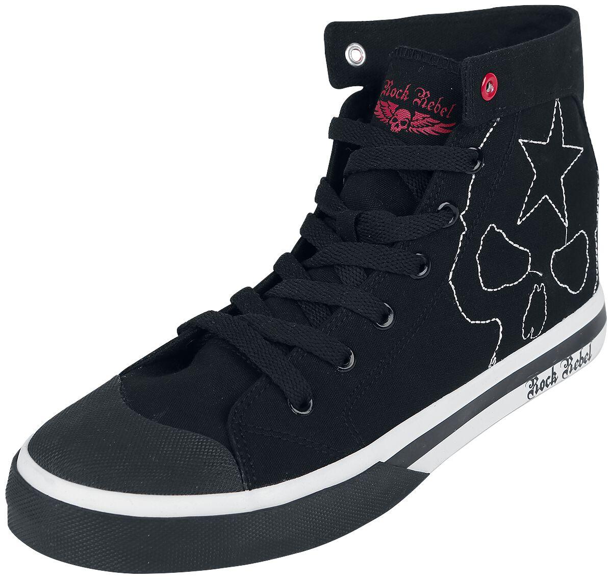 Sneakers für Frauen - Rock Rebel by EMP Walk The Line Sneaker schwarz  - Onlineshop EMP