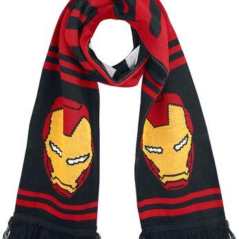 Iron Man Logo Écharpe rouge/noir