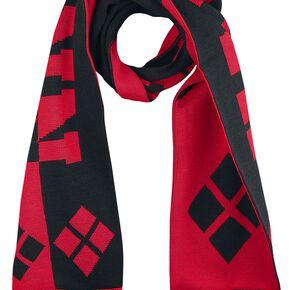 Harley Quinn Logo Écharpe noir/rouge