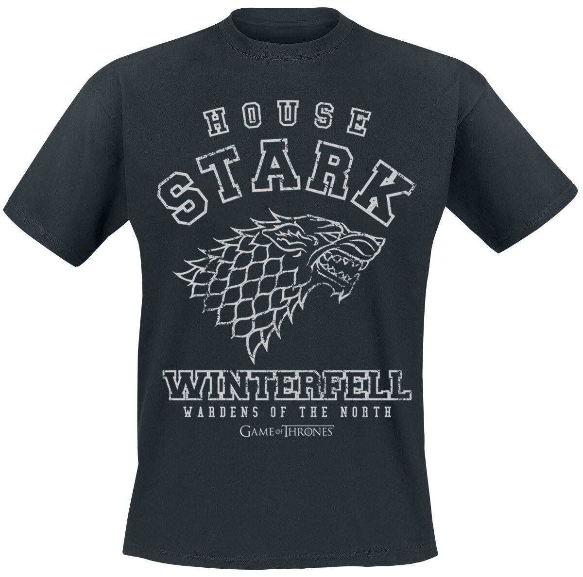Image of   Game Of Thrones House Stark - Winterfell T-Shirt sort