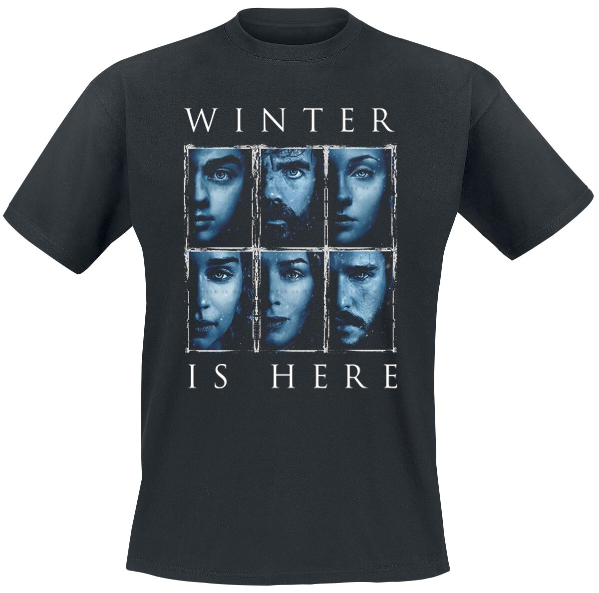 Image of   Game Of Thrones Winter Is Here T-Shirt sort