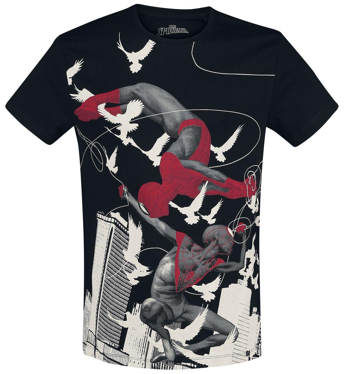 Image of   Spiderman Miles Morales - Spider-Man T-Shirt sort