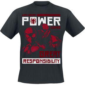 Spider-Man Power Vs Responsibility T-shirt noir