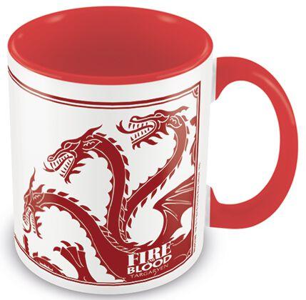 Image of   Game Of Thrones House Targaryen Krus hvid-rød