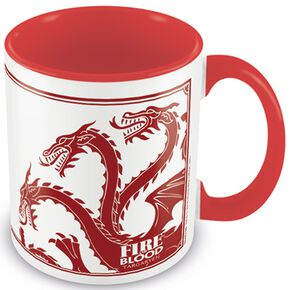 Game Of Thrones Maison Targaryen Mug blanc/rouge