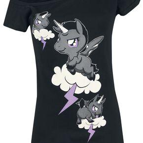 Unicorn Himmel - Wolken T-shirt Femme noir
