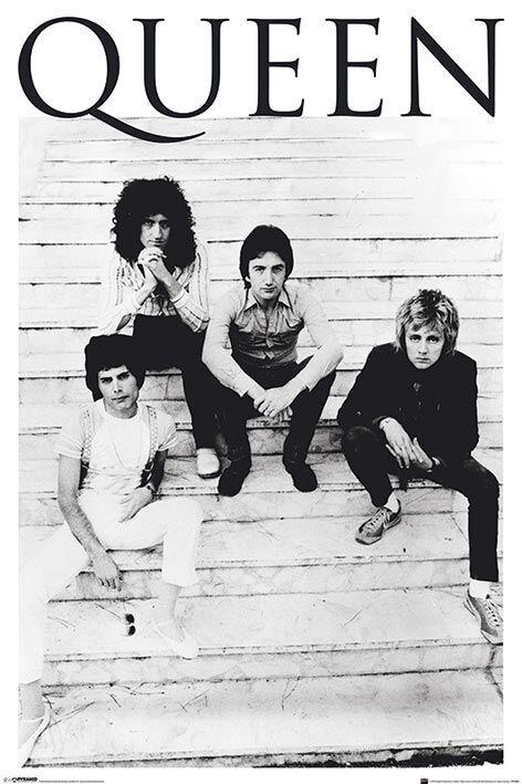Image of   Queen Brazil 81 Plakat sort-hvid