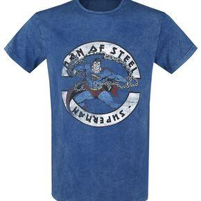 Superman Man Of Steel T-shirt bleu foncé
