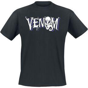 Venom (Marvel) Logo T-shirt noir