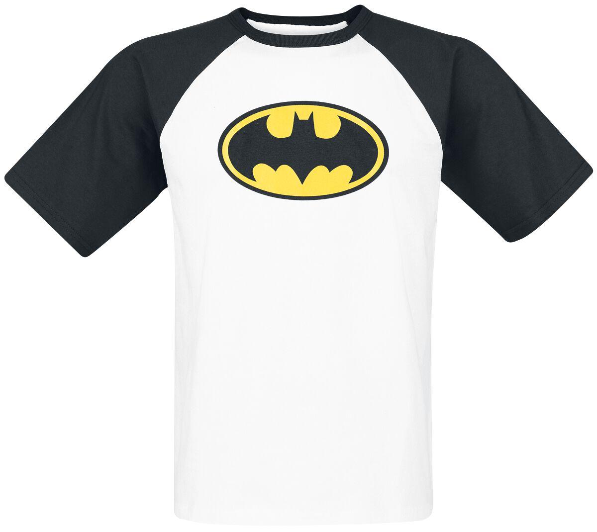 Image of   Batman Logo T-Shirt hvid-sort