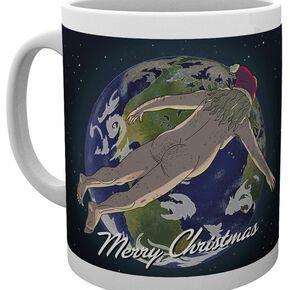 Rick & Morty Merry Christmas Mug blanc