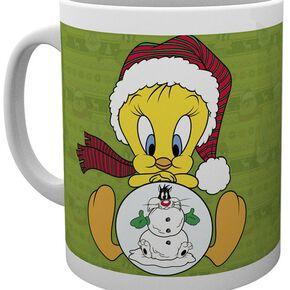 Looney Tunes Tweety Christmas Mug blanc
