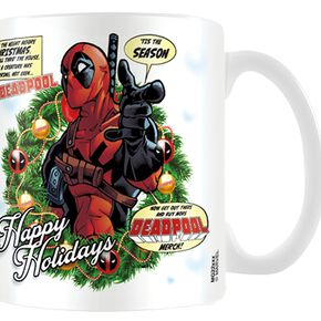 Deadpool Happy Holidays Mug blanc