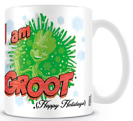 Image of   Guardians Of The Galaxy Festive Groot Krus hvid