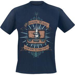 Les Animaux Fantastiques Baguette Magique T-shirt bleu