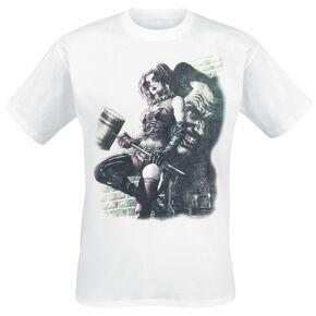 Harley Quinn Wall Art T-shirt blanc
