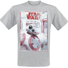 Star Wars Episode 8 - The Last Jedi - BB-8 T-shirt gris chiné