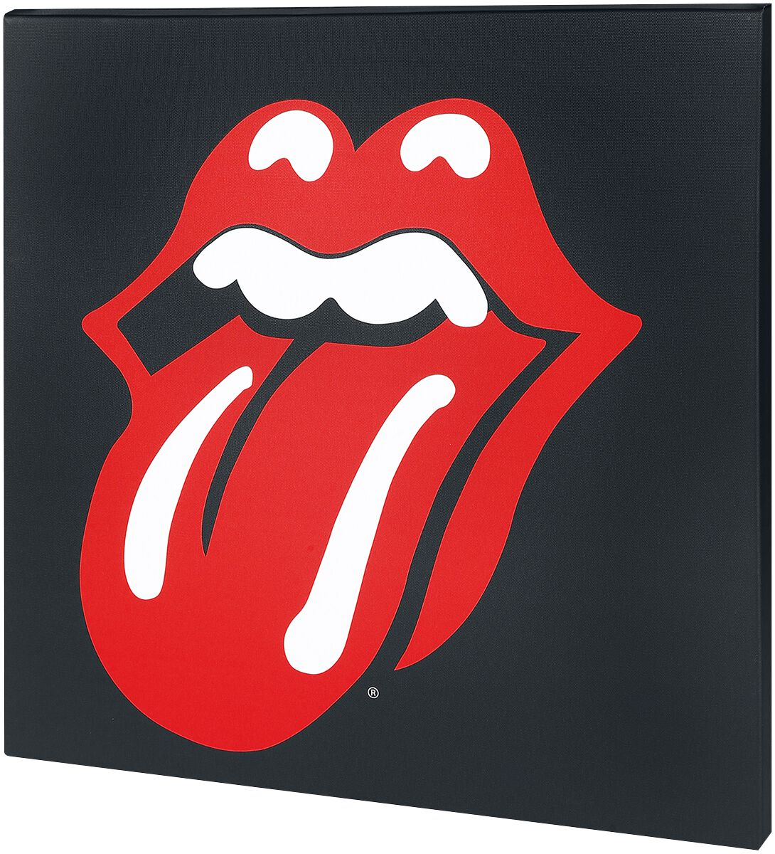 Image of   The Rolling Stones Lips Canvas Print multifarvet
