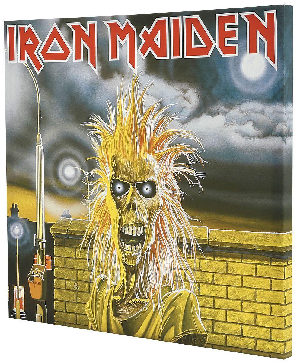 Image of   Iron Maiden First Album Canvas Print multifarvet